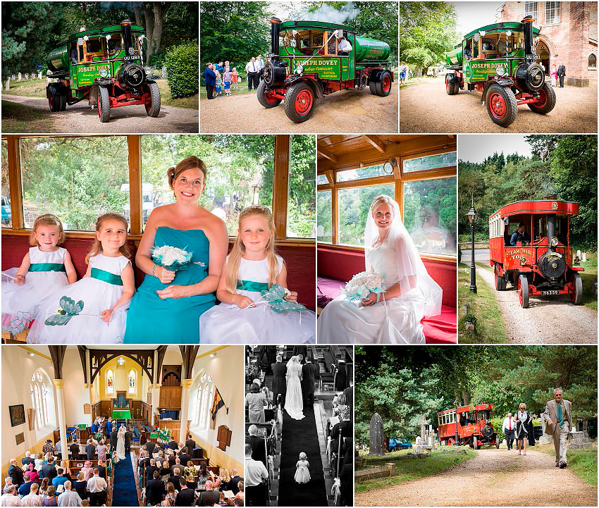 Quirky New Forest steam engine wedding
