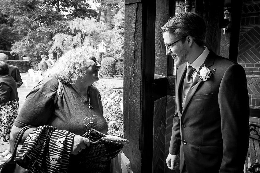 Wedding guests at Tudor Grange Hotel