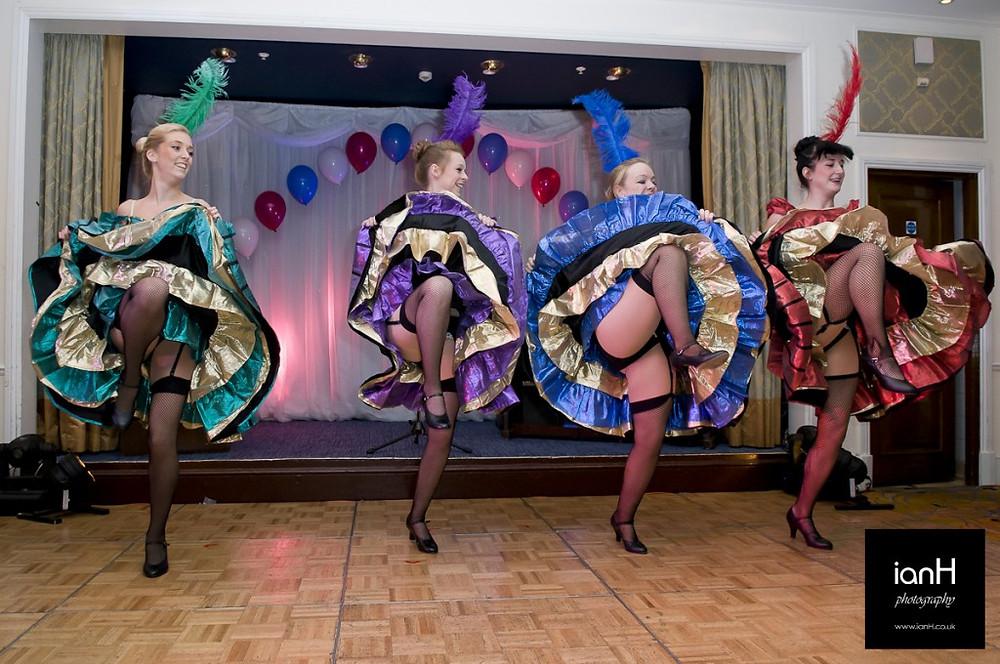 Dorset_event_photographer_Can_Can_dancers_Marriott_Highcliffe