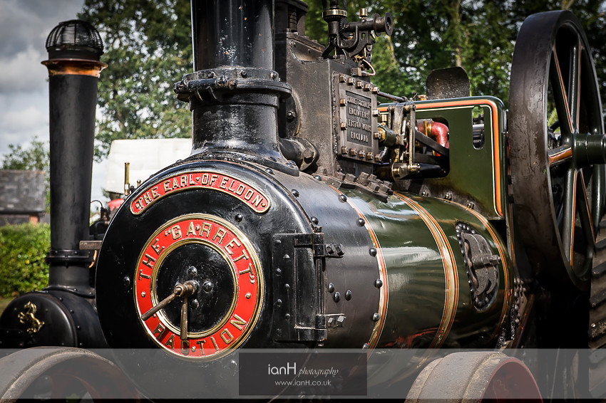 Steam engine at a New Forest wedding