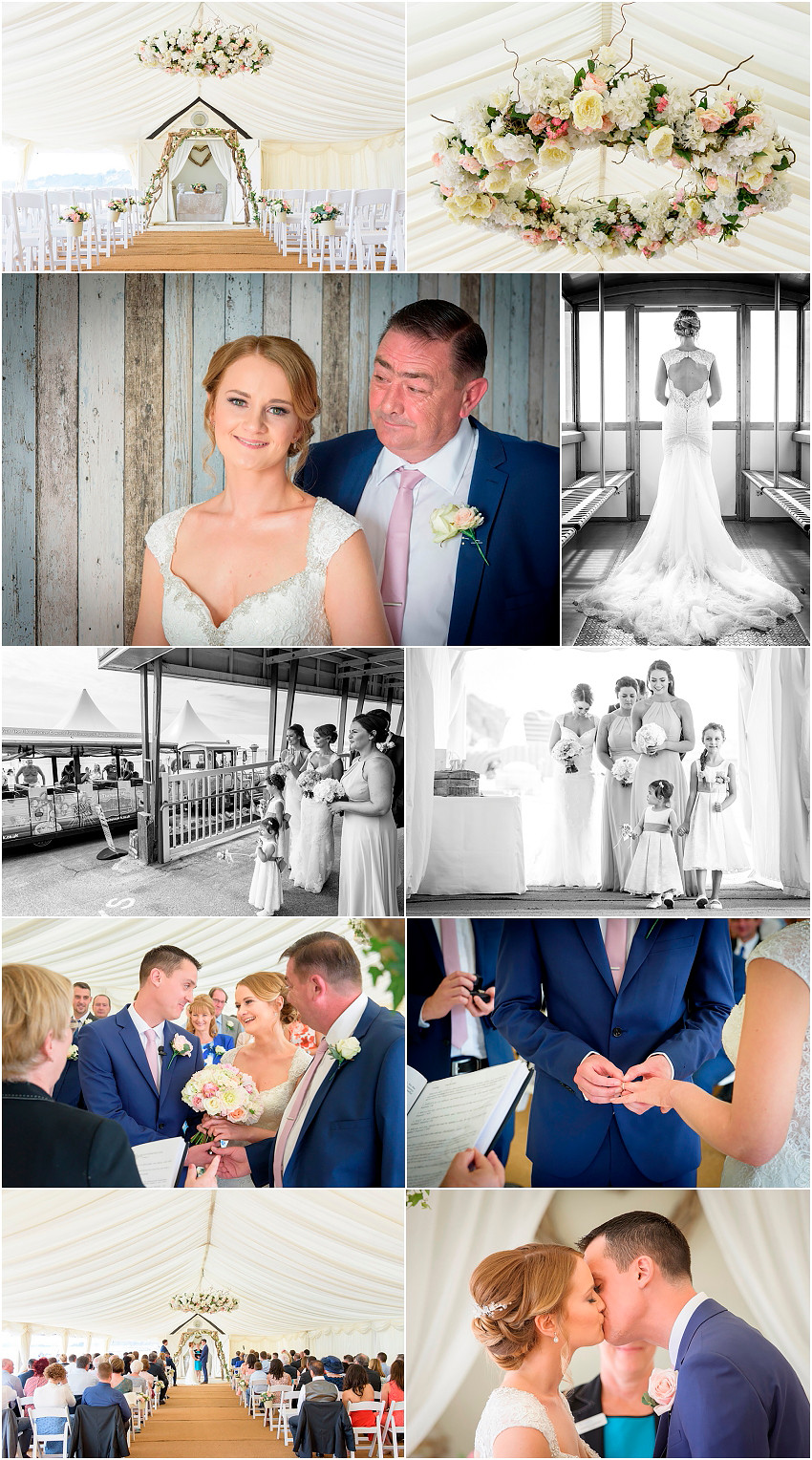 Elegant Bournemouth beach wedding