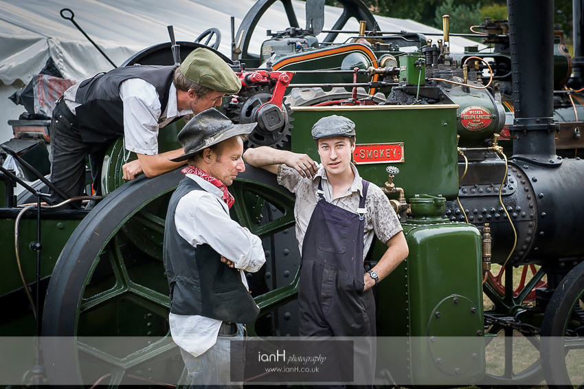 Steam engineers at a New Forest wedding