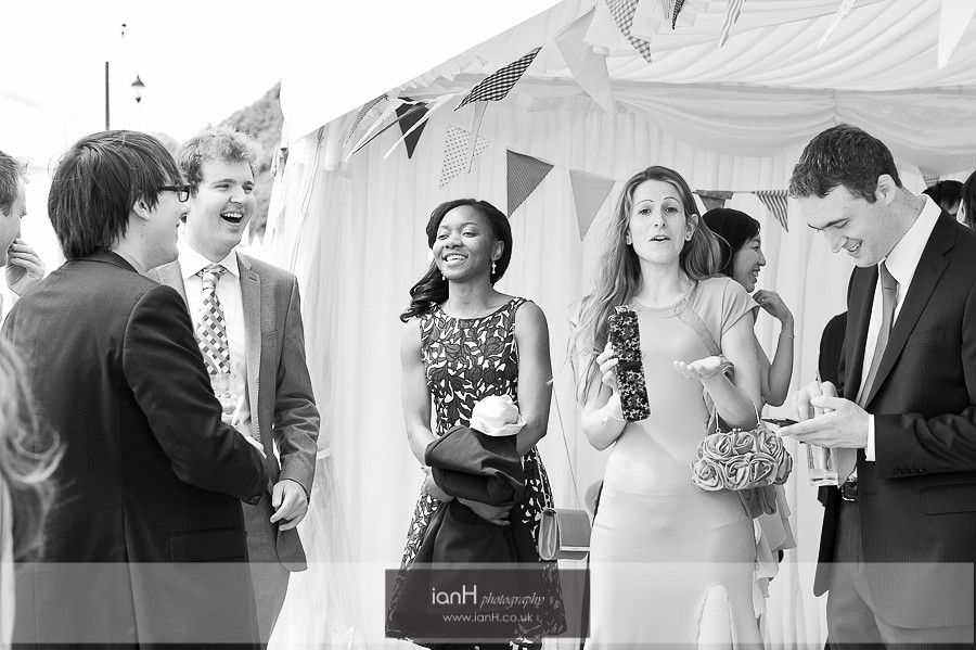 Black and white beach wedding Bournemouth