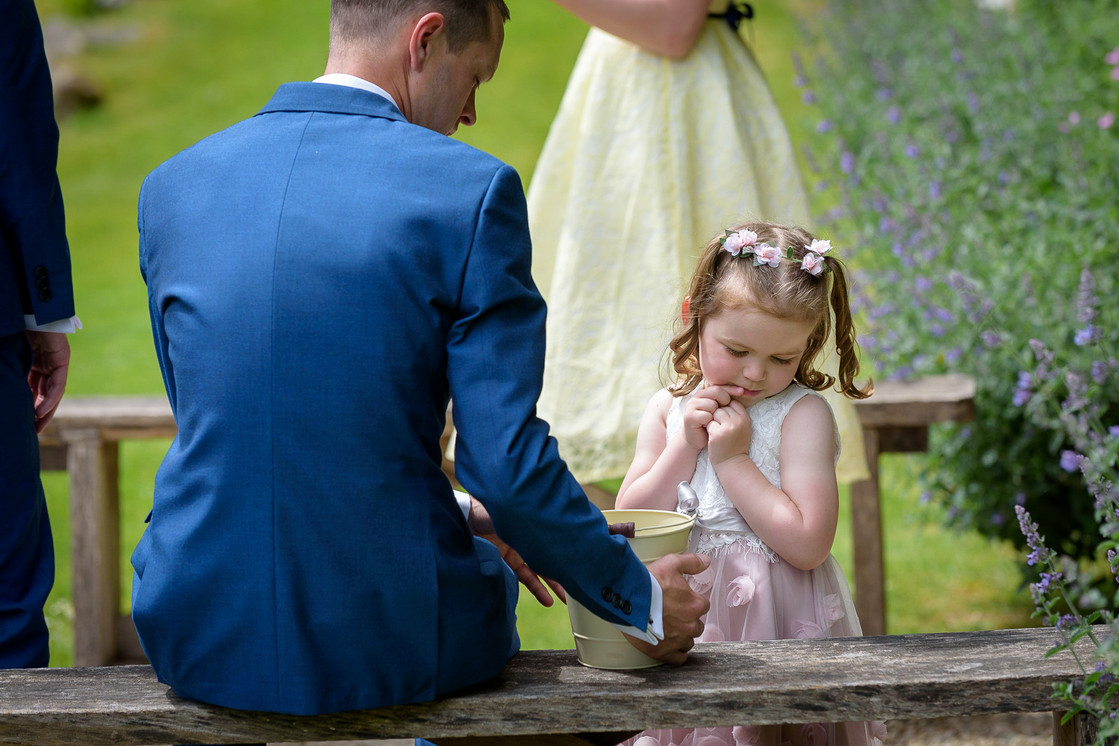 Flower girl with her Father