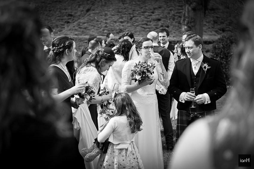 Bride and Bridesmaids at Kings Arms Hotel Christchurch