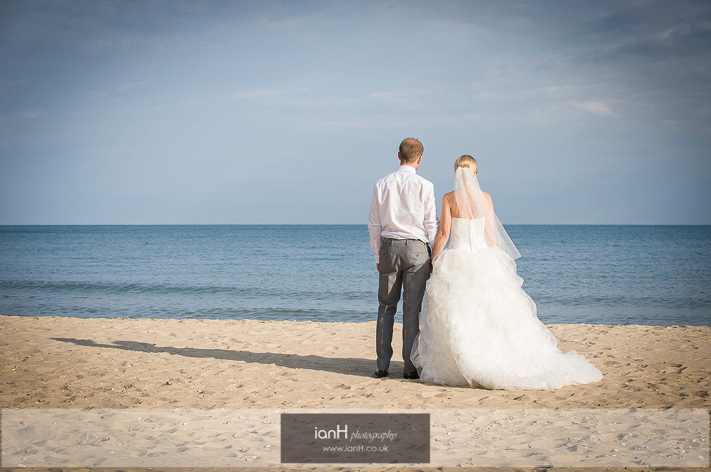 Bournemouth beach wedding Bride and Groom