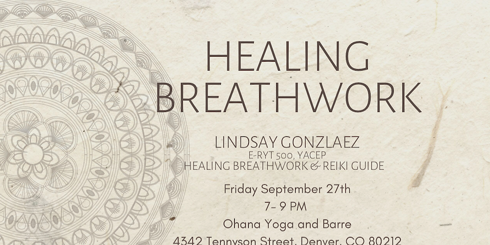 Healing Breathwork Led by Lindsay Gonzalez