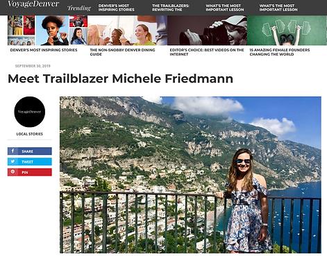 Voyage Denver, Michele Friedmann, Michele Travels, Travel Agency, Tennyson Berkeley Neighborhood