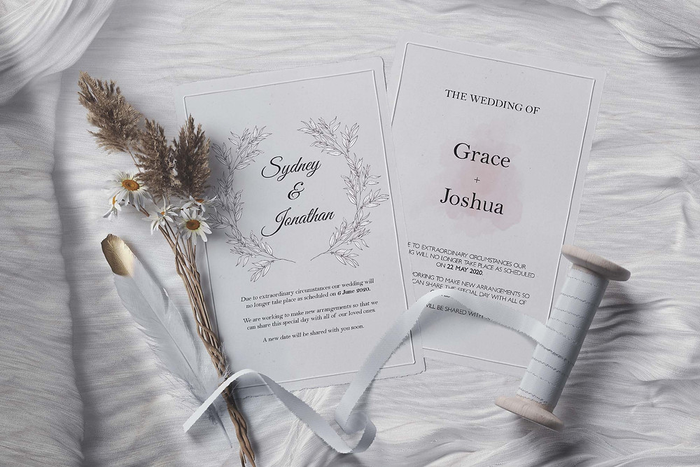 Free Change the Date Wedding Templates