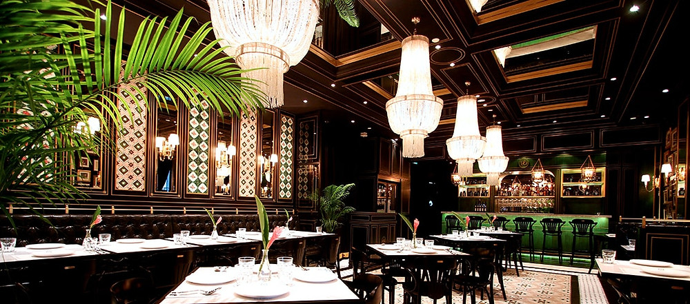 Singapore Wedding Venue: Interior of National Kitchen with Chandeliers