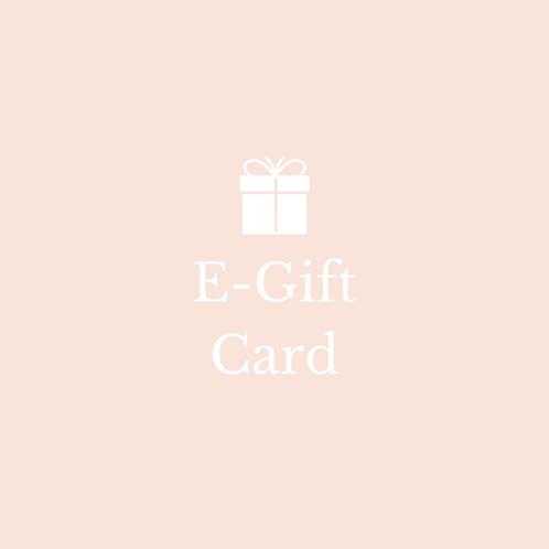 E- Gift Card