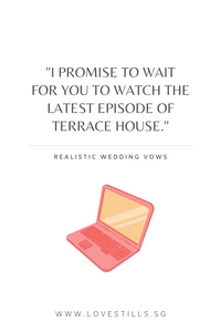 Realistic Wedding Vows