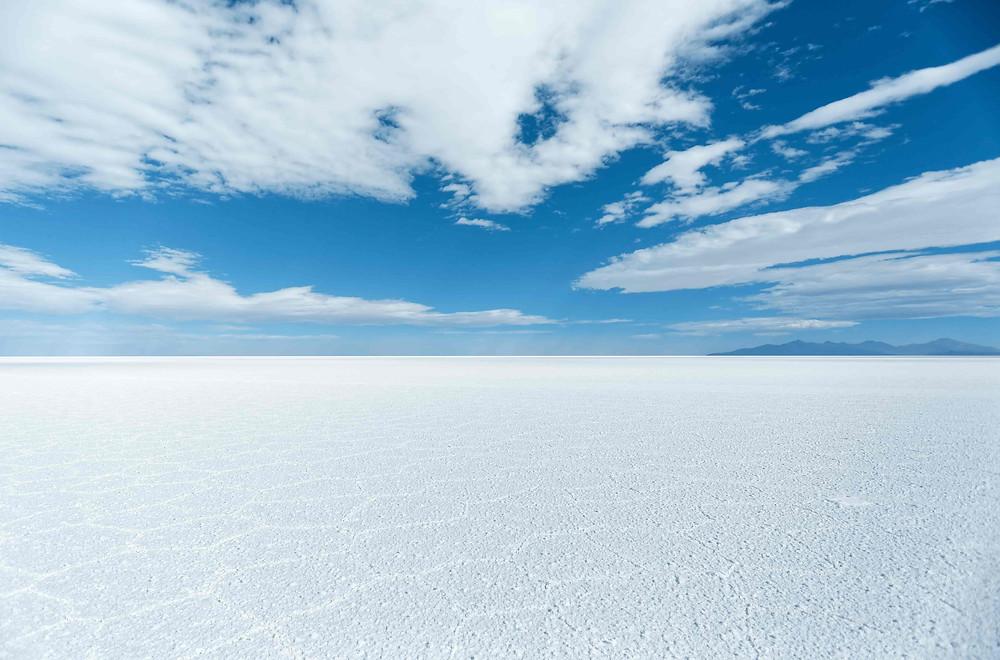 Wedding photoshoot destination: Endless salt flats and the blue skies