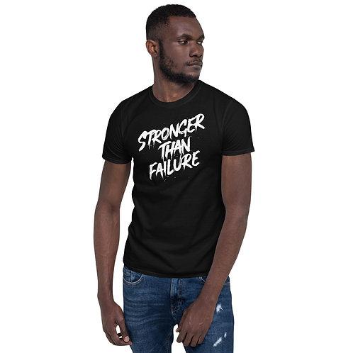 Stronger Than Failure White Graffiti Style Short-Sleeve Unisex T-Shirt