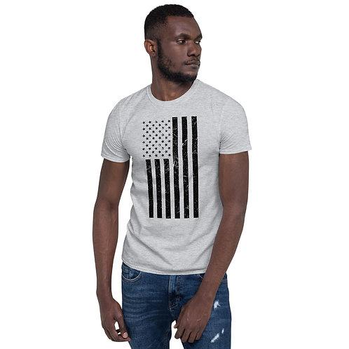 Stronger Nation American Flag (Black) Unisex T-Shirt