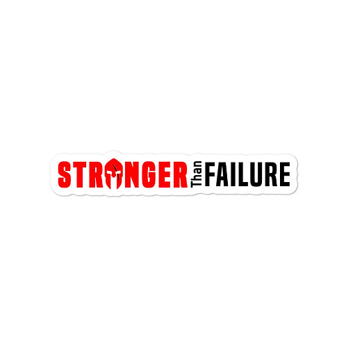 Stronger Than Failure stickers