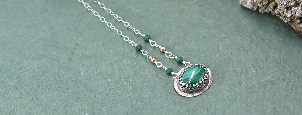Malachite East/West Necklace