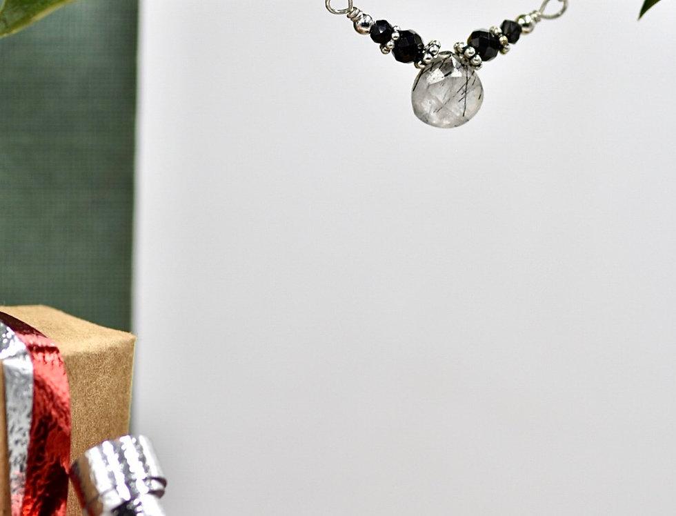 Tourmalated Quartz and Tourmaline Lovely Necklace