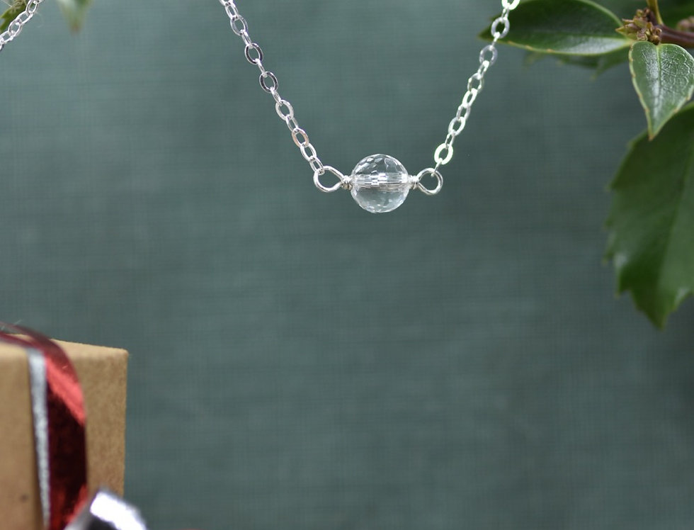 Faceted Quartz Simply Lovely Necklace