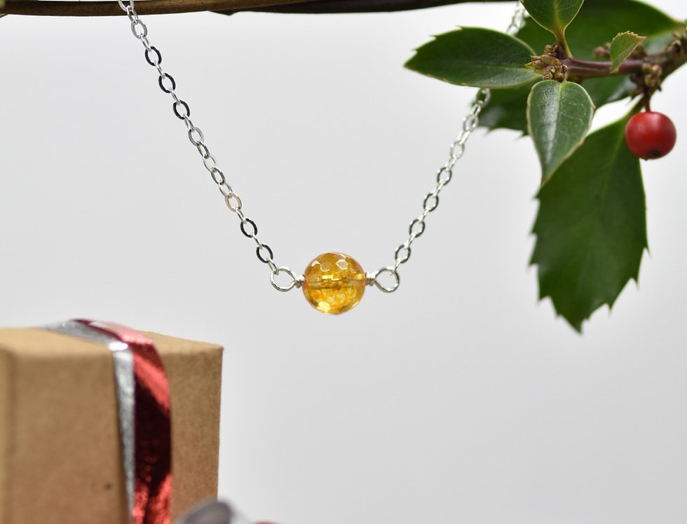 Faceted Citrine Simply Lovely Necklace