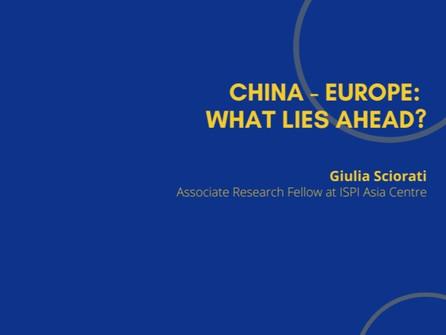 8th Webinar - China-Europe: What Lies Ahead?