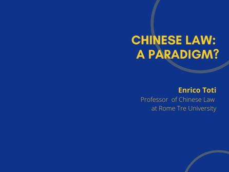 15th Webinar - Chinese Law: A Paradigm?