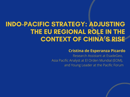 16th Webinar - Indo-Pacific Strategy: Adjusting the EU Regional Role in the Context of China's Rise