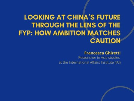 11th Webinar - Looking at China's Future through the Lens of the Five-Year Plan