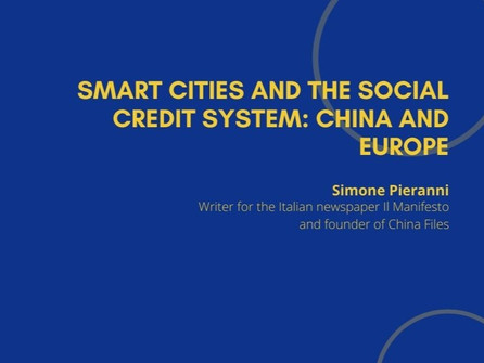 5th Webinar - Smart Cities and the Social Credit System: China and Europe