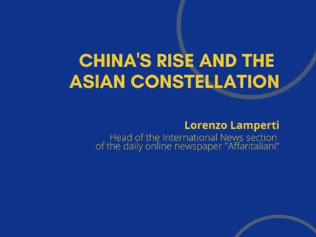 9th Webinar - China's Rise and the Asian Constellation