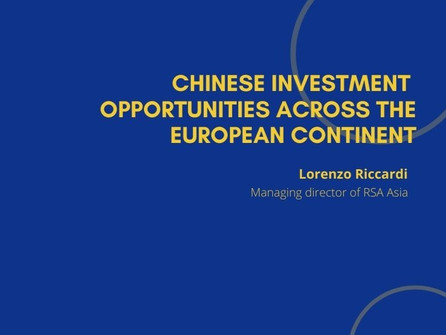 4th Webinar - Chinese Investment Opportunities Across the European Continent