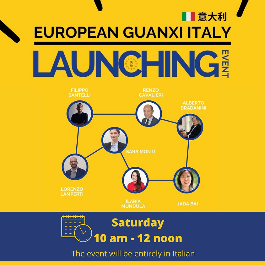 Italian Chapter Launching Event | Saturday 10 am - 12 noon