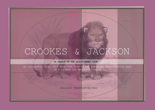 Crookes&Jackson - In Search of the Black-maned Lion of the Kgalagadi Transfrontier Park