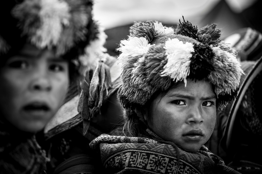 Portrait of a boy, village of Ollantaytambo, Peru. We arrived in the city of Cusco a day later than expected.