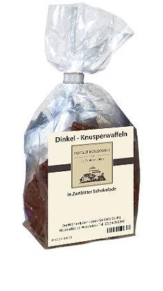 Knusperwaffel Dinkel Zartbitterschokolade 200g