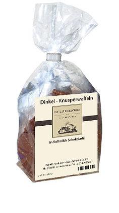 Knusperwaffel Dinkel Vollmilchschokolade 200g