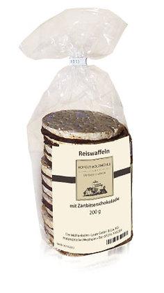 Reiswaffeln Zartbitterschokolade 200g