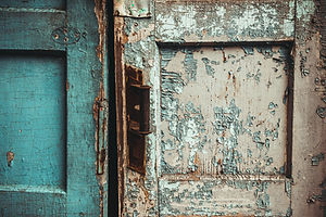 The texture of old door, which the old p