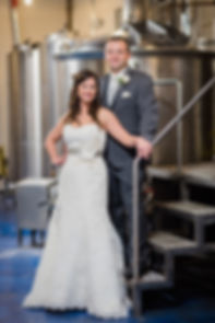 Jason and Patti Govekar at their wedding in Libertyville Illinois at Mickey Finn's Brewery