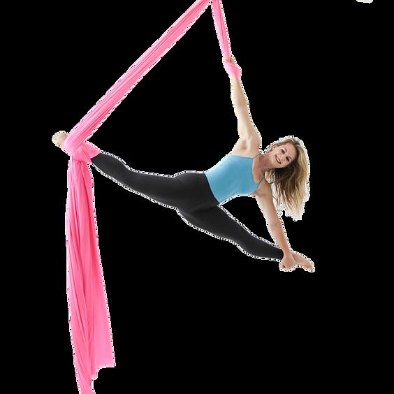 Lindsay Lindberg aerial silk instructor at Aerial Physiquein Los Angeles