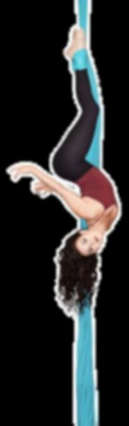 Aeria Silk online training. 2 week free trial of APTV. Jill Franklin suspendedin ankle hook in slk. Downlod the aptv app