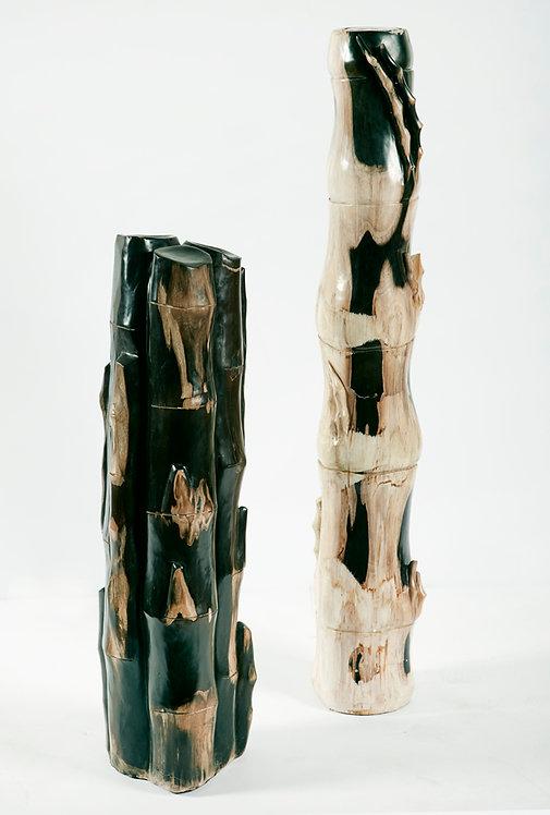 PETRIFIED  BAMBOO WOOD SCLUPTURE