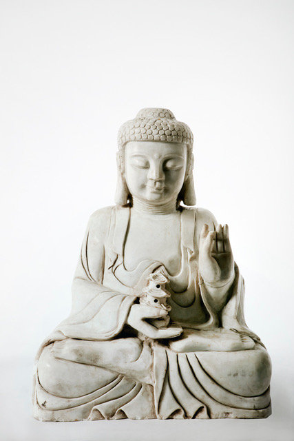 BURMESE BUDDHA HOLDING PAGODA