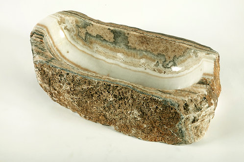 CARVED ONYX BOWL