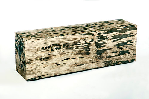 PETRIFIED WOOD BENCH
