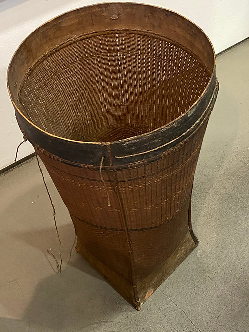 ANTIQUE HAND-WOVEN BASKET