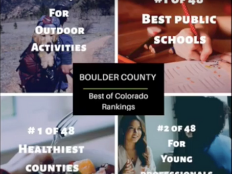 Boulder County is topping the charts