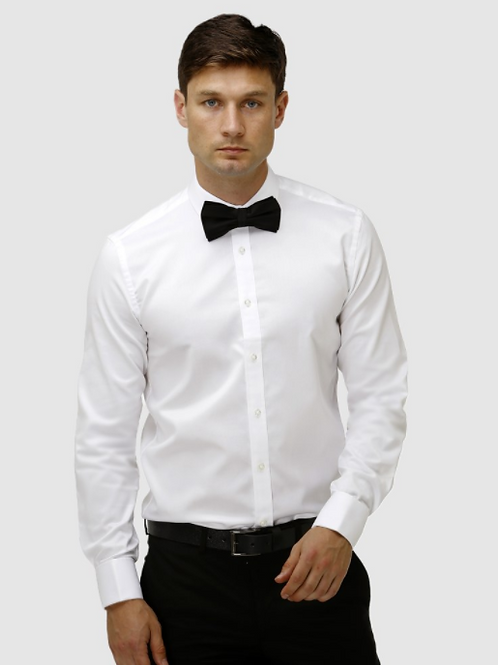 Brooksfield Classic French Cuff Shirt - White