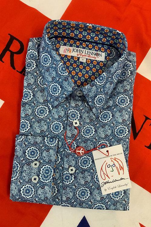 John Lennon -ESSEX Long Sleeve Shirt Blue