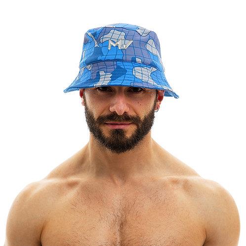 Modus Vivendi - Trapped Camo Bucket Hat - Blue